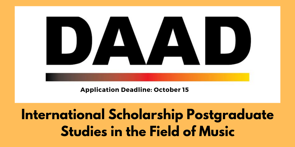 Photo of DAAD International Music Scholarship in Germany 2020